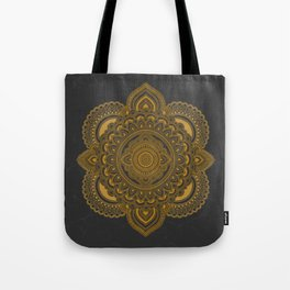 Mandala in Gold Tote Bag