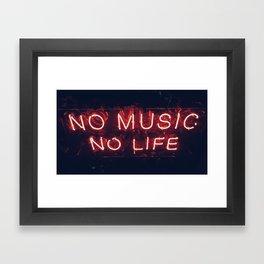 No Music No life Framed Art Print