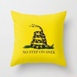 No Step On Snek Throw Pillow