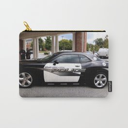 Gainesville Florida Police Challenger Black and White Patrol Car Carry-All Pouch