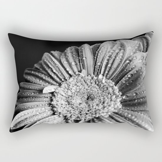 Gerbera black and white Rectangular Pillow