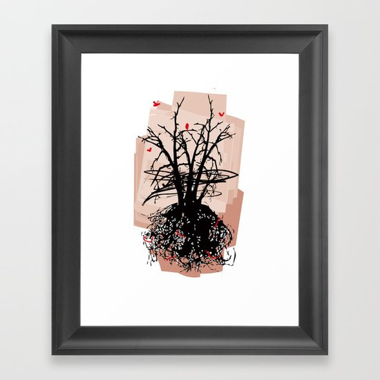 Birds and the Sky Framed Art Print