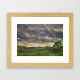 Oil Painting On Canvas Landscape Artwork Gloomy Sky Modern Room Wall Art Home Living Framed Art Print