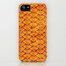 Digital knitting pattern iPhone Case