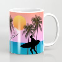 florida Mugs featuring Florida  by mark ashkenazi