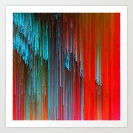 California Dreamin' - Abstract Glitch Pixel Art Art Print