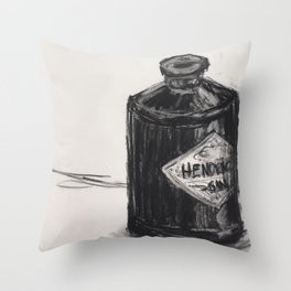 Gin and Charcoal Throw Pillow