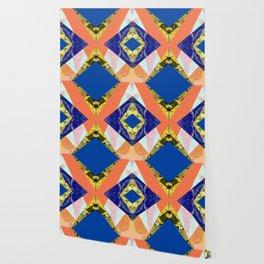 Bizarre Abstract Geometric Collage Pop Art Wallpaper