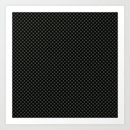 Black and Duffel Bag Polka Dots Art Print