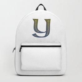 Celtic Knotwork Alphabet - Letter Y Backpack