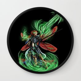 Dragonfly Mage Wall Clock