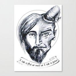 God and Satan Canvas Print