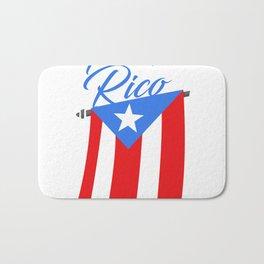 Big Puerto Rico Flag Bath Mat