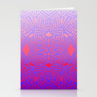 bali Stationery Cards featuring Bali (Ombre) by Jacqueline Maldonado