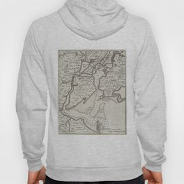 Vintage Staten Island & NYC Harbor Map (1733) Hoody