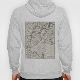 Vintage Staten Island & NYC Harbor Map (1733) Hoody