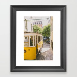 Yellow Cable Car Framed Art Print