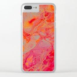Neon Sherbert Clear iPhone Case
