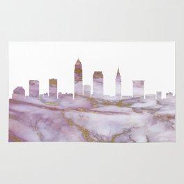 Cleveland Skyline Ohio Rug