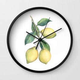 Lemon Dreams Wall Clock