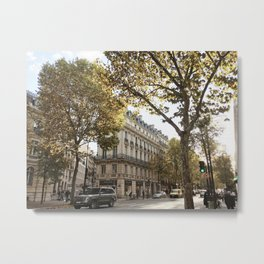 Paris in Autumn Metal Print