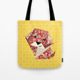 Origami Puppies With Yellow Background Tote Bag