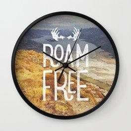 Roam Free NZ Wall Clock