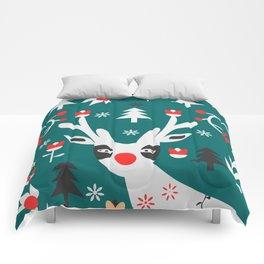 Merry Christmas reindeer Comforters