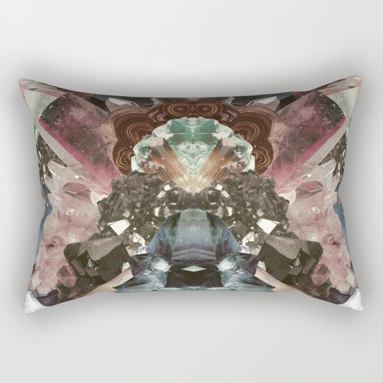Crystal Collage Rectangular Pillow
