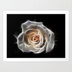 Rose of Light Art Print
