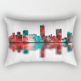 Amarillo Texas Skyline Rectangular Pillow