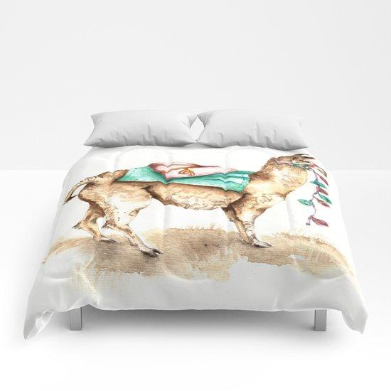 Watercolor Llama Comforters