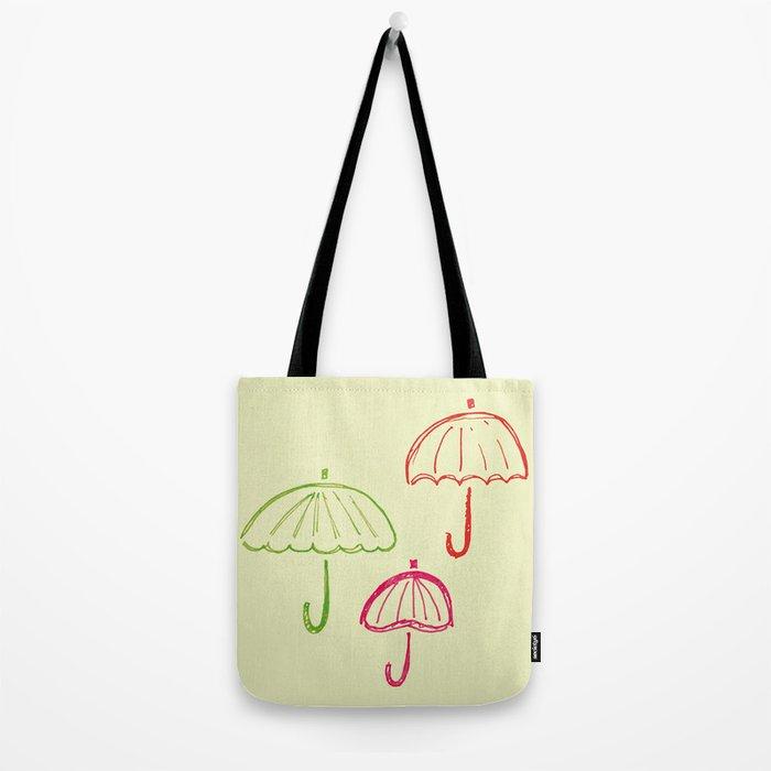 Happy Umbrella Tote Bag