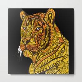 Tiger White Tiger Tiger Baby Tiger Cub Metal Print