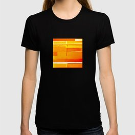 Gold Monochromatic with Red Tones T-shirt