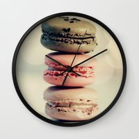 macarons Wall Clocks featuring macarons . . . by [o] Suze q