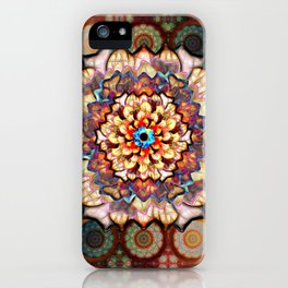 Flower In An Exotic Pattern Over Gold Rings iPhone Case