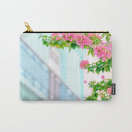 Colonial Havana Architecture with Pink Bougainvillea Carry-All Pouch