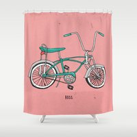 boss Shower Curtains featuring Boss. by shoooes