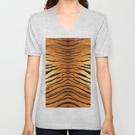 Cute tiger skin pattern Unisex V-Neck