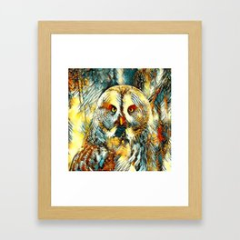 AnimalArt_Owl_20170602_by_JAMColorsSpecial Framed Art Print