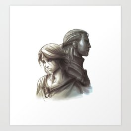 The Witcher 3 - Ciri / Geralt Artwork Art Print
