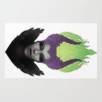 maleficent Area & Throw Rugs featuring Maleficent by clayscence