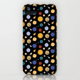 Kawaii Solar System iPhone Case