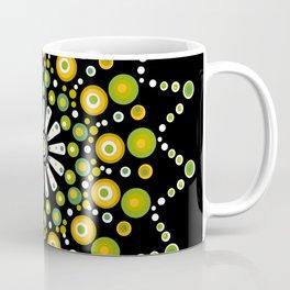 Dandelions on the Lawn Dot Mandala Coffee Mug