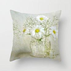 Simply white Throw Pillow