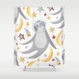 Sloth Pattern #5 Shower Curtain