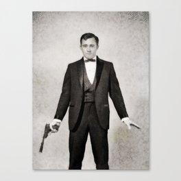 Robert Vaughn, Vintage Actor Canvas Print