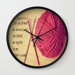 Psalm 139 Baby Scripture Wall Clock