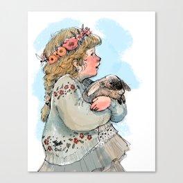 Little Rabbit Canvas Print